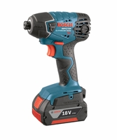 BOSCH 25618-01 18V 1/4 in. Hex Impact Driver (2) 4.0Ah Batteries