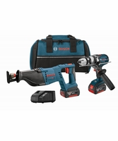 BOSCH CLPK203-181 - 18V Lithium-Ion Heavy Duty Brute Tough 2-Tool Combo Kit