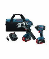 BOSCH CLPK222-181 - 18V Lithium-Ion Heavy Duty Brute Tough 2-Tool Combo Kit