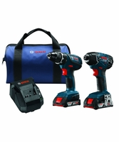 BOSCH CLPK232A-181 - 18V Lithium-Ion Compact Tough 2-Tool Combo Kit