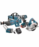 CLPK402-181 - 18V 4-Tool Combo Kit with Brute Tough 12 In Hammer DrillDriver 1-18 In Reciprocating Saw 6-12 In Circular Saw and Flashlight