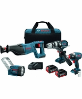 BOSCH CLPK414-181 - 18V Lithium-Ion Heavy Duty 4-Tool Combo Kit