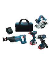 BOSCH CLPK430-181 - 18V Lithium-Ion Heavy Duty 4-Tool Combo Kit