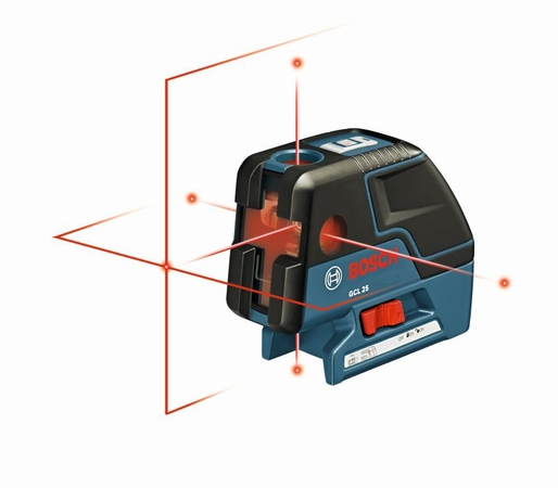 Bosch GCL-25 - Five-Point Self-Leveling Alignment Laser and Cross-Line