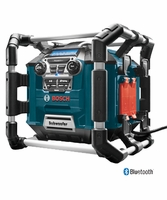 Bosch PB360C - Power Box Jobsite AMFM RadioChargerDigital Media Stereo with 360 Degree Sound and Bluetooth