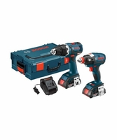 BOSCH CLPK233-181 18 V 2-Tool Combo Kit with EC Brushless 1/4 In. and 1/2 In. Socket-Ready Impact Driver and EC Brushless Compact Tough 1/2 In. Drill/Driver