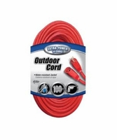 Coleman Cable 02409 100' Outdoor Extension Cord Water-resistant jacket 14/3 13A