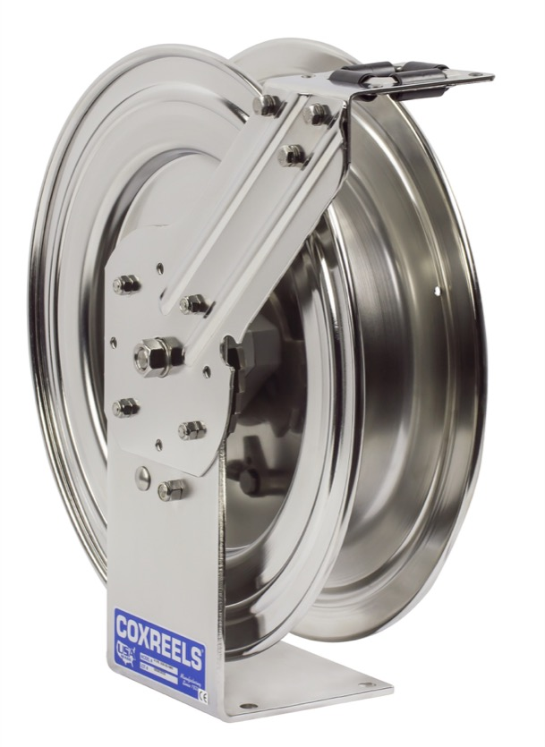 COXREELS P-LPL-350-SS Stainless Steel Spring Driven Hose Reel 3/8\