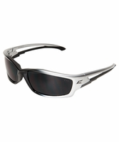 EDGE Eyewear SK116 Kazbek - Silver & Black / Smoke Safety Glasses