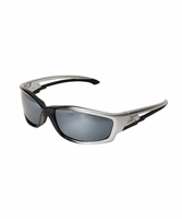 EDGE Eyewear SK117 Kazbek - Silver & Black / Silver Mirror Safety Glasses