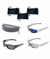 EDGE Eyewear SK9810 Ultimate Kazbek 3 Pack with Hard Case and 3 Soft Cases