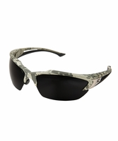 EDGE Eyewear TSDK216DCF Khor - Digital Camo Frame, Polarized Smoke Lens Safety Glasses