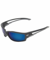 EDGE Eyewear TSKAP218 Kazbek - Black / Polarized Aqua Precision Blue Mirror