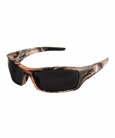 EDGE Eyewear TSR216CF Reclus - Forest Camo Frame, Polarized Smoke Lens Safety Glasses