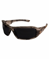 EDGE Eyewear XB116CF Brazeau - Forest Camo Frame, Smoke Lens Safety Glasses