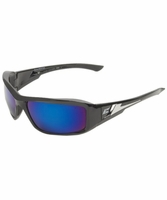 EDGE Eyewear XB118 Brazeau - Black / Blue Mirror Safety Glasses