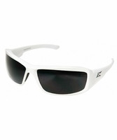 EDGE Eyewear XB146 Brazeau Torque - White Frames / Smoke Lens Safety Glasses