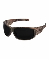EDGE Eywear HZ116CF Caraz - Forest Camo Frame, Smoke Lens Safety Glasses