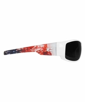 EDGE Eyewear HZ146-P2 Caraz - Patriot, USA Flag Frame, Smoke Lens Safety Glasses