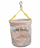"Elk River 84403 White Cotton Duck Bucket, 12"" x 15"", plastic bottom"
