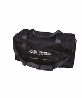 "Elk River 88010 Zip Duffle Bag, shoulder straps, 22.5"" x 11"" x 11"", black"
