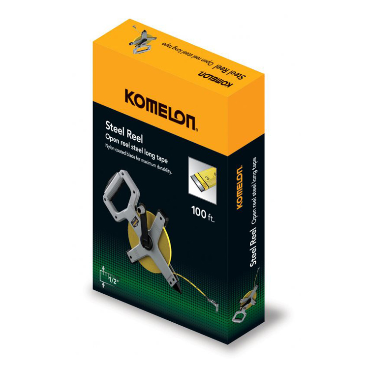 KOMELON N6100 100ft Metal Frame Steel Reel Tape MeasureFastoolNowcom