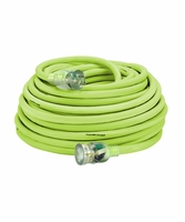 Legacy Manufacturing 727-123050FZL5F 50 ' 12-3 Outdoor Extension cord w/ Lighted Plug, Green