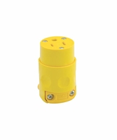 Leviton 245YL 515CV 15 Amp, 125 Volt, PVC Grounding Cord Outlet, Yellow