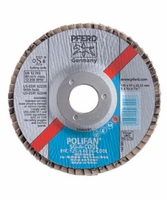 PFERD 62234 4-1/2x7/8 POLIFAN Flap Disc Conical SG Alum Oxide COOL 120 Grit