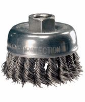 "PFERD 82530 6"" Knotted Cup Brush 5/8-11 Arbor,  .014 Wire, 6000 RPM"