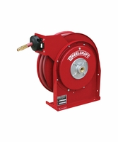 "Reelcraft 4430-OLP 1/4"" x 30' Spring Retractable Hose Reel, 300 PSI w/ Hose"