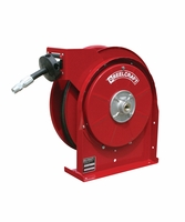 "Reelcraft 5420-OHP 1/4"" x 20' Spring Retractable Hose Reel, 5000 PSI w/ Hose"