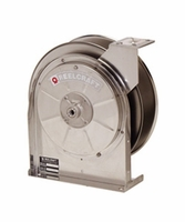 "Reelcraft 5600-ELS 3/8"" x 35' Stainless Enclosed Hose Reel, 300 PSI No Hose"