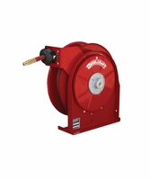 "Reelcraft 5440-OLP 1/4"" x 40' Spring Retractable Hose Reel, 300 PSI w/ Hose"