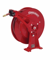 "Reelcraft D8640-OLP 3/8"" x 40' Ultimate Duty Spring Retractable Reel, 300 PSI w/ Hose"