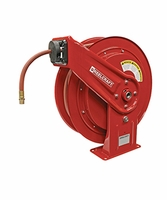 Reelcraft HD-76075-OLP 3/8 x 75 HD Spring Retract Air/Water Reel 300psi w/ hose