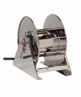 "Reelcraft HS18000-MS 1/2"" x 200' Hand Crank Stainless Hose Reel, 3000 PSI No Hose"