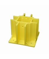 Safety Boot SB004 Yellow OSHA Compliant Guardrail w/Toeboard Slots (4 Ct.)