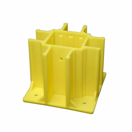 Safety Boot SB024-B Yellow OSHA Compliant Guardrail Base w/Toeboard Slots (24 Ct.)