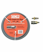 """SENCO PC0045-COMBO 1/4"""" x 50' Gray Rubber Air Hose with Fittings"""