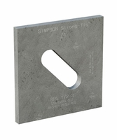 """Simpson Strong-Tie BPS-1/2-3HDG 1/2"""" Bolt Dia 3 X 3 Bearing Plate Slotted HDG"""