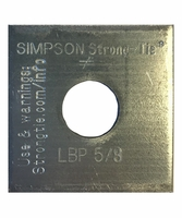 """Simpson Strong-Tie LBP-5/8 5/8"""" Bolt Dia 2 X 2 Bearing Plate"""