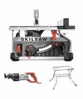 SKIL SPT70WT-22 10 In. Portable Worm Drive Table Saw Combo w/ Recip. Saw