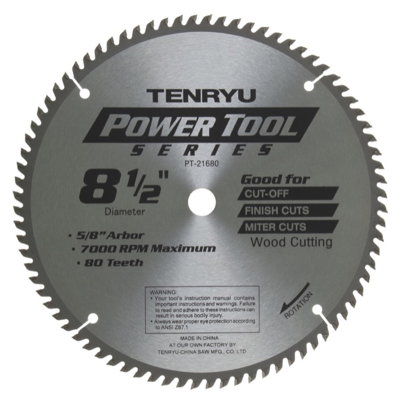 Tenryu pt 21680 8 12 miter saw blade 80t 58 arbor fastoolnow tenryu pt 21680 8 12 miter saw blade 80t 58 keyboard keysfo Gallery