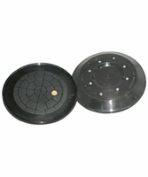 "Wood's Powr-Grip 49656T Vacuum Pad - 11"" Flat/Lipped, Side Feed"
