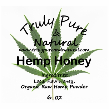 Raw Creamed Honey - Organic Hemp 6 oz
