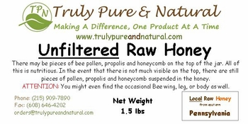 Unfiltered Raw Honey - Pint / 1.5 lbs