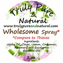 Wholesome Essential Oils - 2 oz. Spray - Compare to Thieves