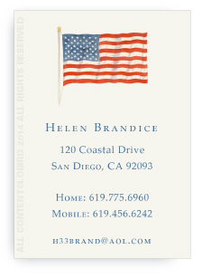 American Flag - Calling Cards