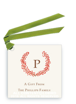 Berry Crest gift tags